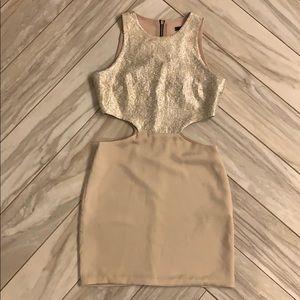 Naven Sexy Cutout Dress gold shimmer - 4
